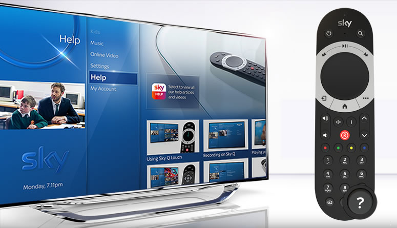 Image: Sky Q - help's literally at your fingertips