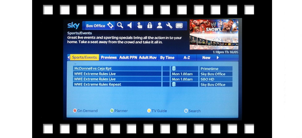 how to change tv screen size with sky remote