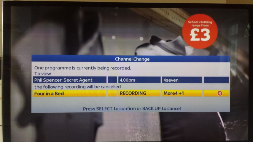 how to change channel while recording on dish