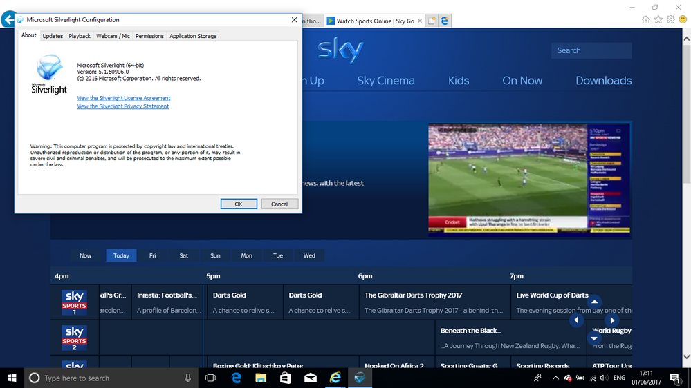 No sky sports in ie11 even though i have sky sport - Can you watch sky box office on sky go ...
