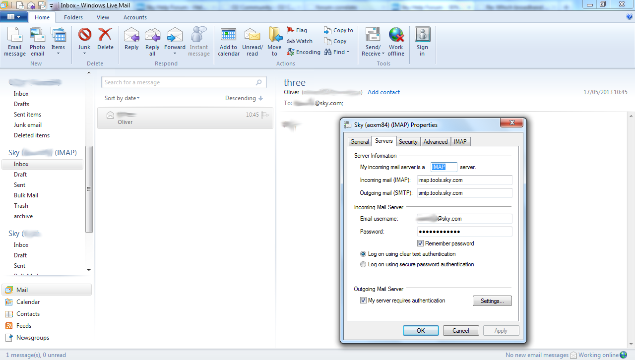 how to configure yahoo mail in windows live mail 2012