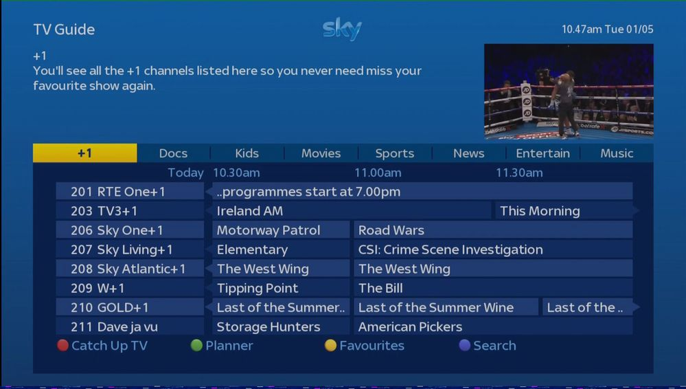 Sky Epg Channel Lineup