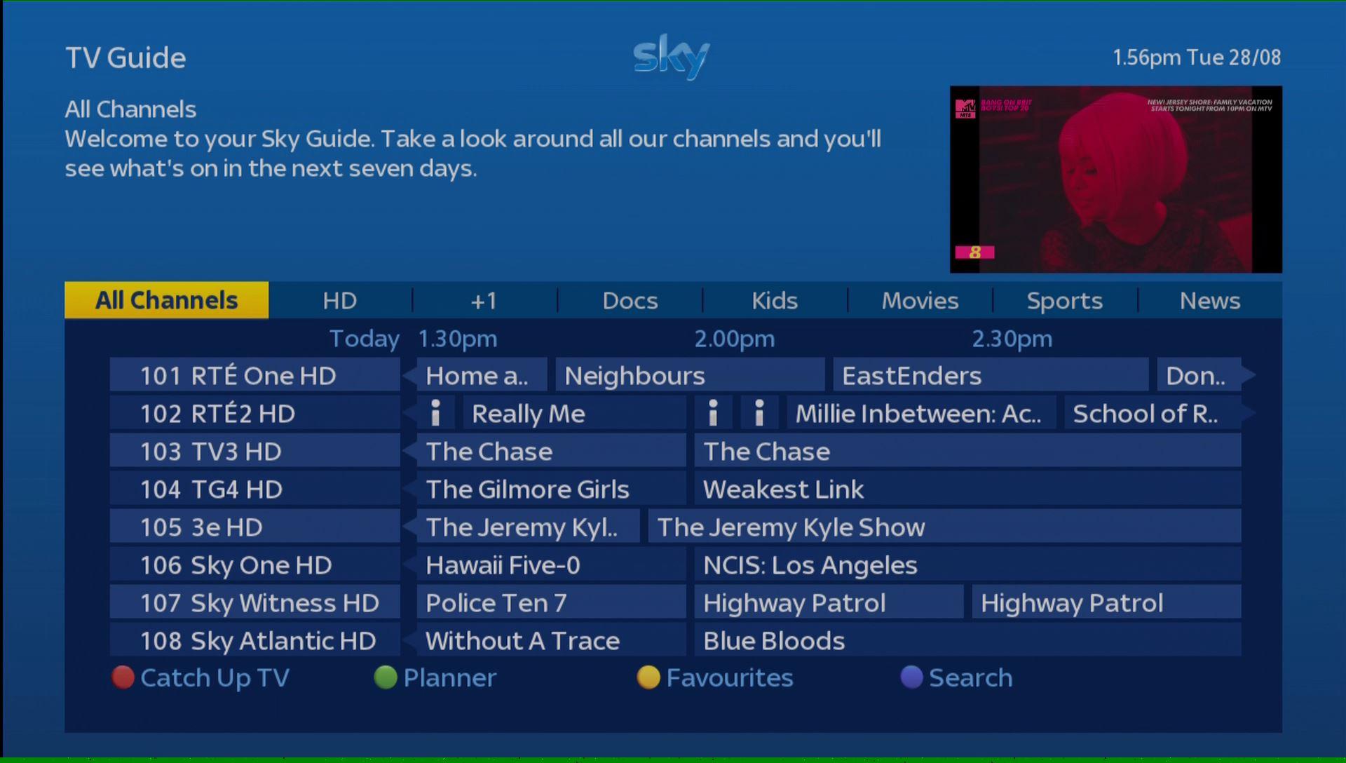 Sky Q Tv Guide