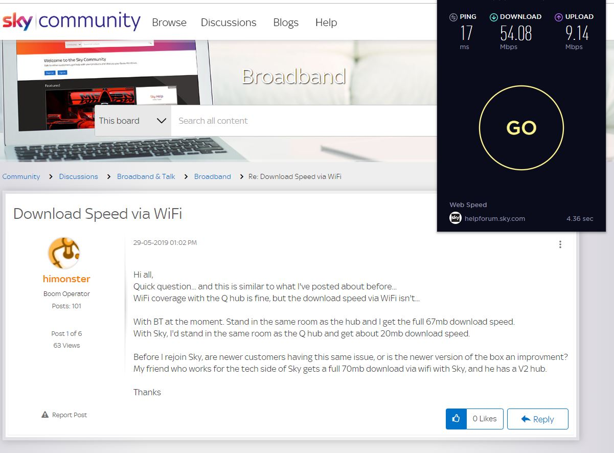 Download Speed via WiFi - Sky Community