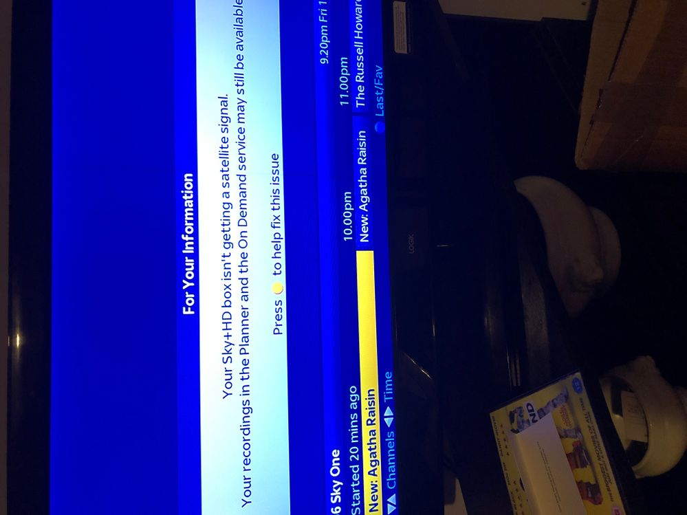 Your Sky Hd Box Isn T Getting A Satellite Signal >> No Satalite Signal Only On Sky Channels Sky Community