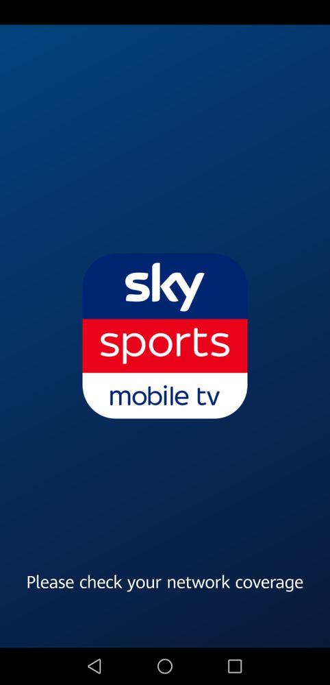 Sky sports mobile tv app not working - Sky Community