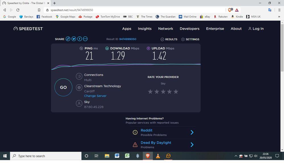 Speed Test Ookla Online Speed Test