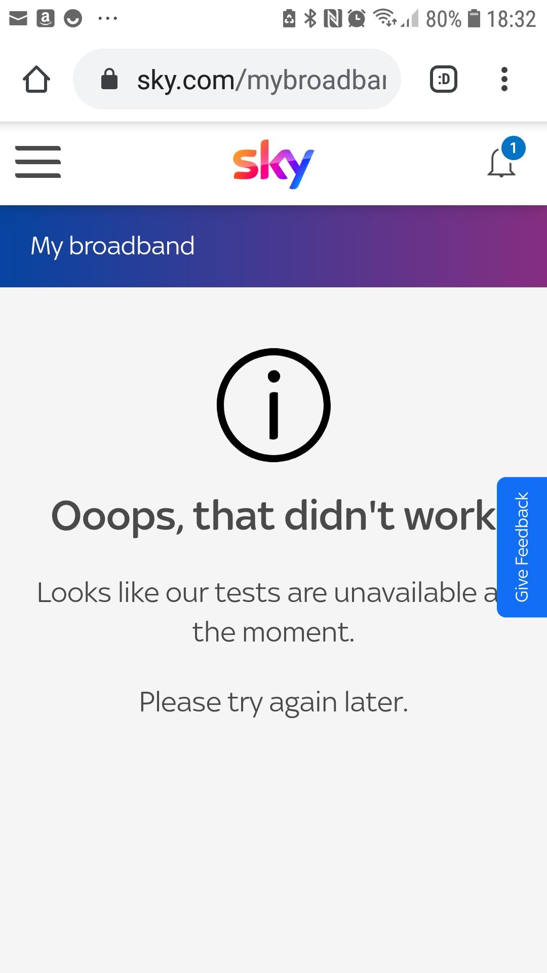 Sky Internet Probleme