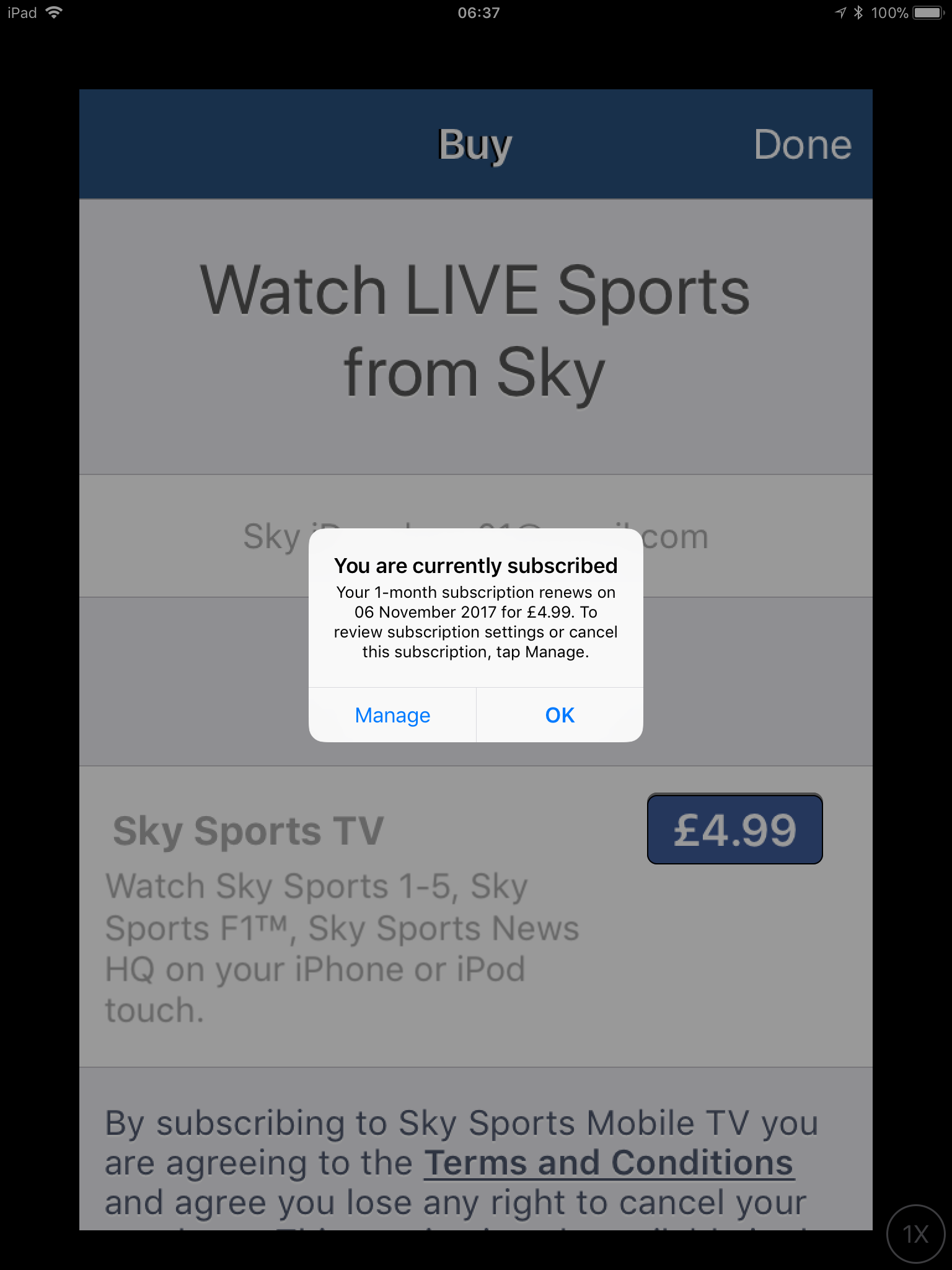 Answered: Sky Sports Mobile TV IOS App Not Working October