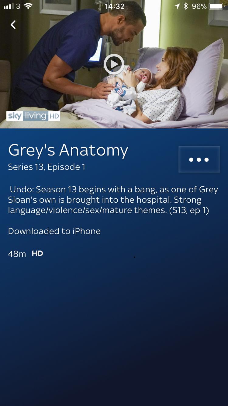 Answered: Grey\'s Anatomy series 13 - Sky Community
