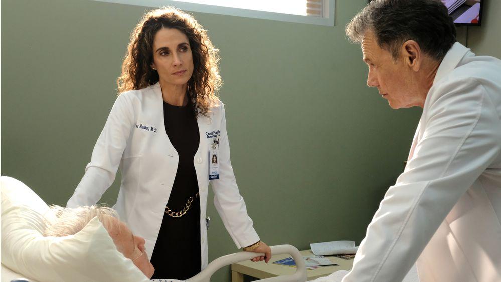 Melina Kanakaderes as Dr Lane Hunter.JPG