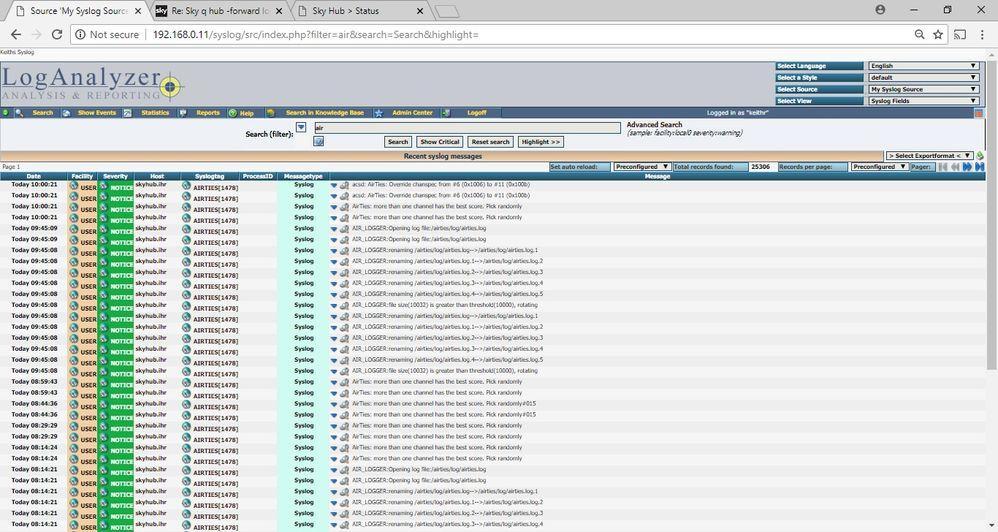 Answered: Sky q hub -forward logs to remote Syslog server