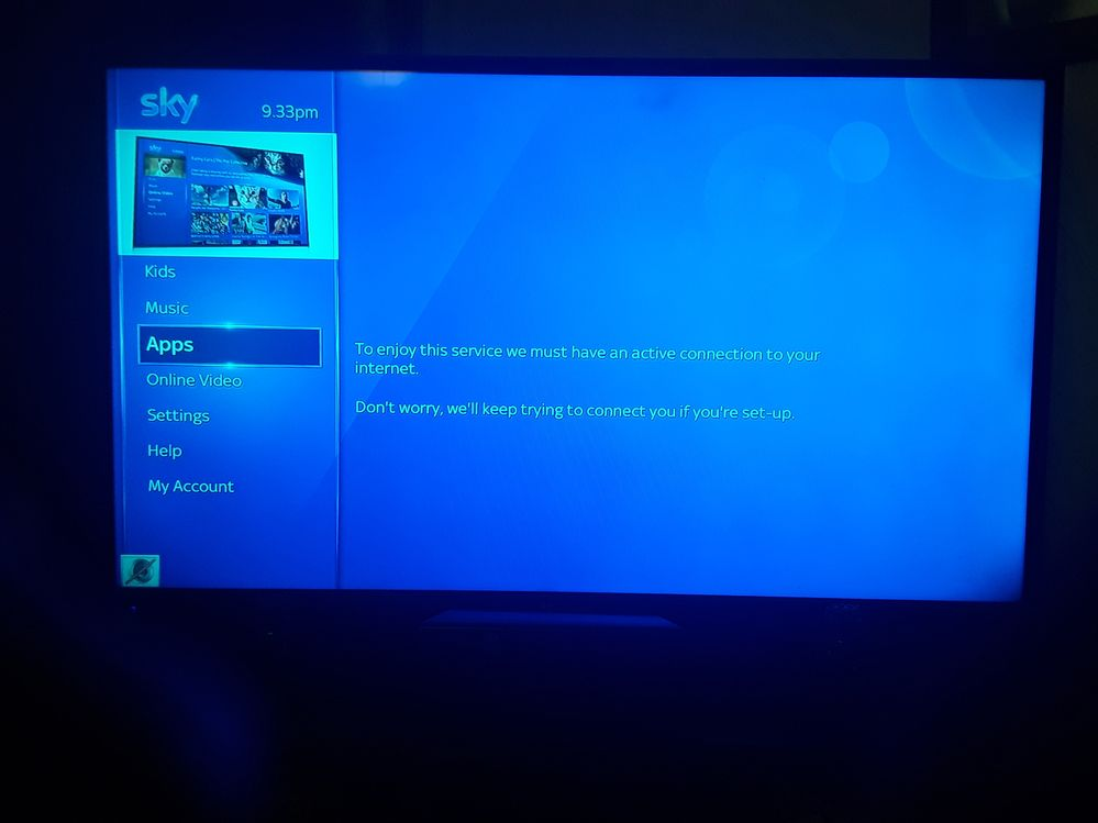 netflix not working on sky q